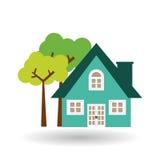 House icon design, vector illustration Stock Photos
