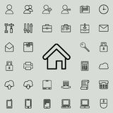 House icon. Detailed set of minimalistic icons. Premium graphic design. One of the collection icons for websites, web design, mobi. Le app on colored background Stock Photos