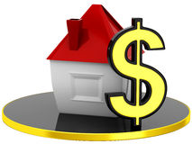 House Icon with dollar sign Stock Images