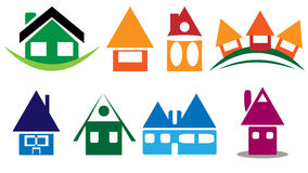 House icon. Eight different colors at house icon Stock Photo