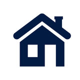 House icon. This is file of EPS10 format Royalty Free Stock Images