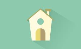 House. Icon house flat design Royalty Free Stock Photos