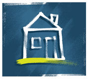 House icon, freehand drawing Stock Images
