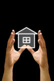 House icon in the hand Royalty Free Stock Photo