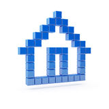 House icon. Home pixelated symbol render Royalty Free Stock Images