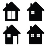 House icon illustration in black color Stock Photography