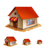 House icon. Illustration of detailed house icon isolated on white background Stock Image