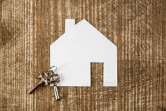 House icon and keys, real estate concept Stock Image