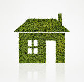 House icon made of green tree Stock Image