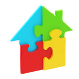 House icon made of puzzle pieces Royalty Free Stock Photo