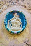 House icon of Madonna and child, Malta Stock Photography