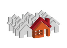 House icon and  Real Estate Building abstract design Royalty Free Stock Images