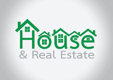 House icon and  Real Estate Building abstract design Stock Image