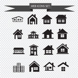 House Icon Real estate Set for website Royalty Free Stock Photos