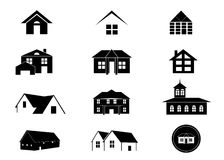 House Icon Set. Royalty Free Stock Photography