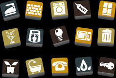 House Icon Set Stock Image
