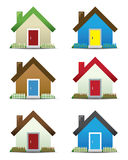 House Icon Set. Please view my portfolio for more vector illustration of house icons Royalty Free Stock Photo