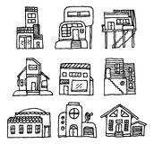 House icon set / Architecture Royalty Free Stock Photography