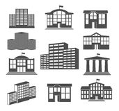 House icon set. Business buildings Royalty Free Stock Photography