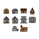 House icon set Stock Photos