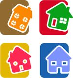 House Icon Set Royalty Free Stock Image