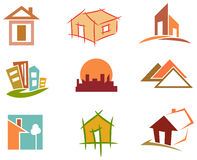 House icon set. Illustrated isolated  house icon set Stock Photo