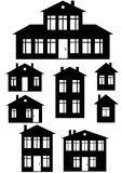 House icon set isolated on white Royalty Free Stock Photo