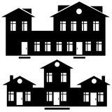 House icon set isolated on white Stock Photos