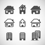 House icon set, vector eps10 Stock Photos