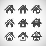 House icon set, vector eps10 Stock Images