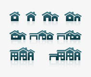 House Icon Set royalty free illustration