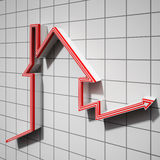 House Icon Showing House Price Going Up Stock Photo