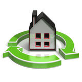 House Icon Shows Home Investing Royalty Free Stock Photography
