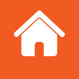 House icon, simple vector illustration Royalty Free Stock Photos
