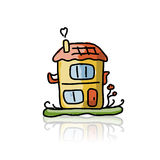 House icon, sketch for your design Royalty Free Stock Photo