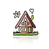 House icon, sketch for your design Royalty Free Stock Photography