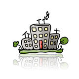 House icon, sketch for your design Royalty Free Stock Image