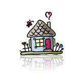House icon, sketch for your design Royalty Free Stock Images