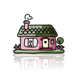 House icon, sketch for your design Stock Image