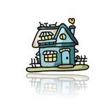 House icon, sketch for your design Stock Photos