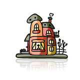 House icon, sketch for your design Stock Photography