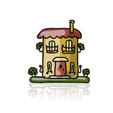 House icon, sketch for your design Royalty Free Stock Photos