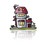 House icon, sketch for your design Stock Images