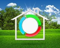 House icon and stylized button Stock Image