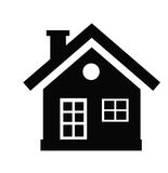 House icon. Vector black house icon on white background Stock Image