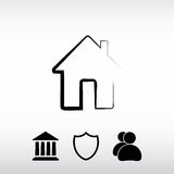 House icon, vector illustration. Flat design style Royalty Free Stock Photos