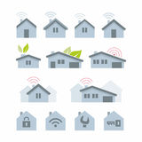 House icon. Vector various house icon set royalty free illustration