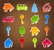 House icon5. Set of icons on a house theme. A  illustration Stock Photos