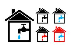House icons Royalty Free Stock Images
