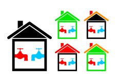 House icons Royalty Free Stock Image